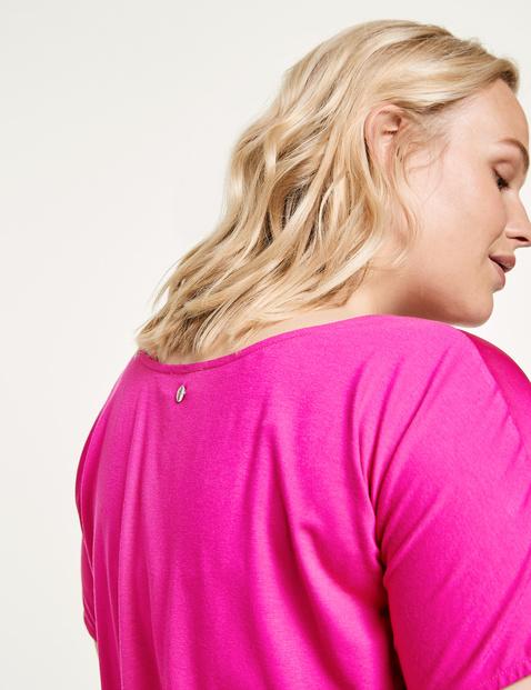 Bluzkowy top z satynowym przodem