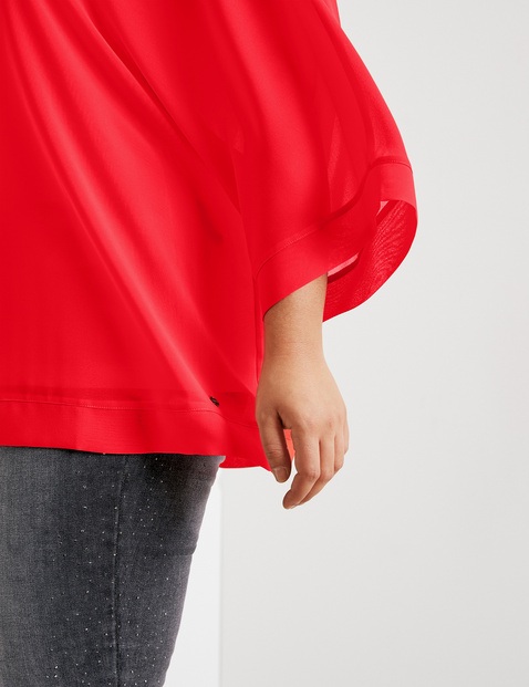 Chiffon blouse with an integrated top