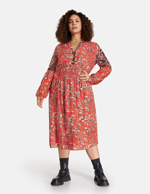 Midi dress in a boho style in Red | GERRY WEBER