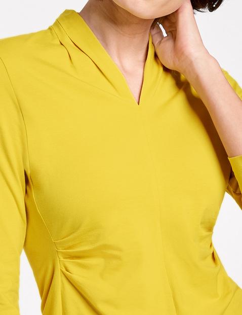 3/4 Arm Shirt mit Zierfalten