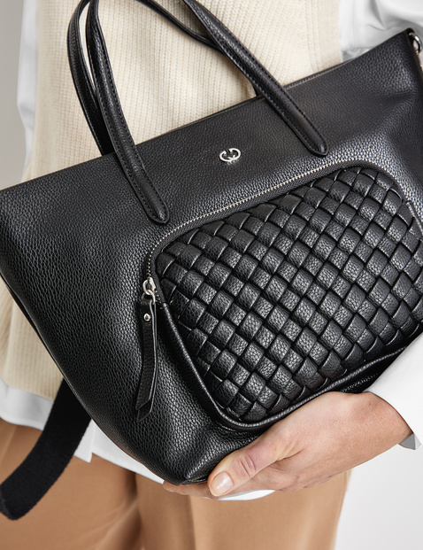 Handbag with a braided detail, Wave