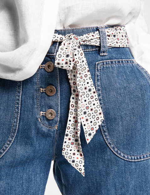 Jeans-Shorts mit Stoffgürtel