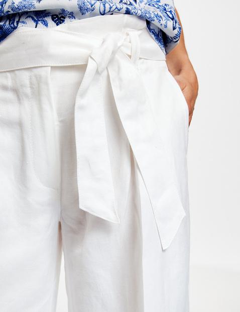 Weite Hose aus Leinen Viskose