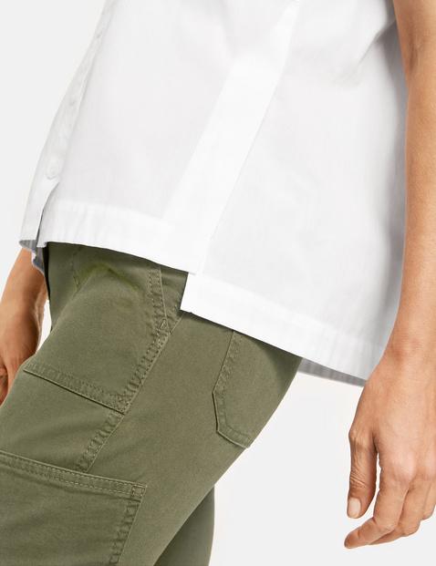 Lockere 1/2 Arm Bluse aus Baumwolle