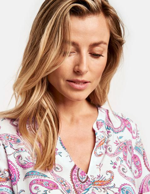 1/2 Arm Bluse mit floralem Print