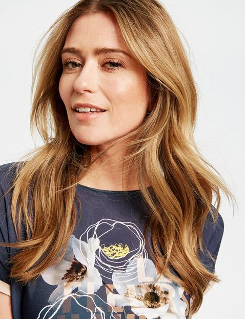 1/2 Arm Shirt mit floralem Print