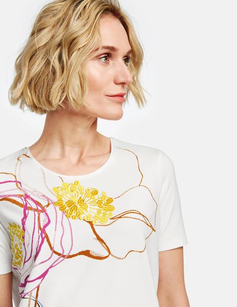 1/2 Arm Shirt mit großer Blüte