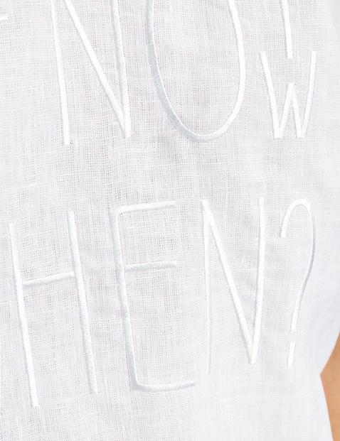 1/2 Arm Shirt mit Mottostickerei