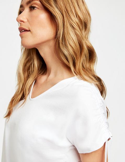 Shirt mit Kräuseldetail organic cotton