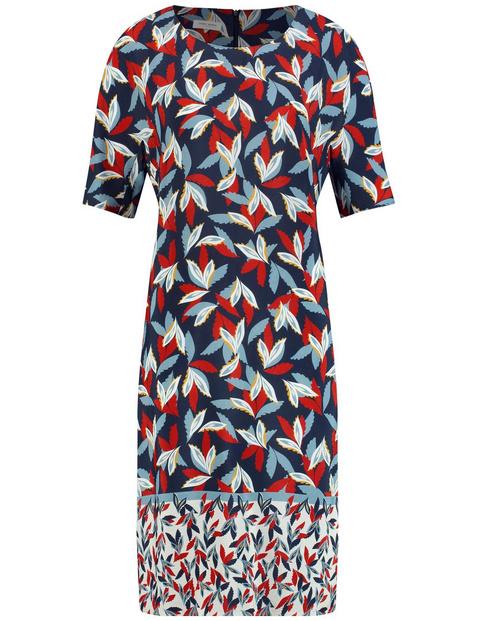 Kleid mit Saumbordüre