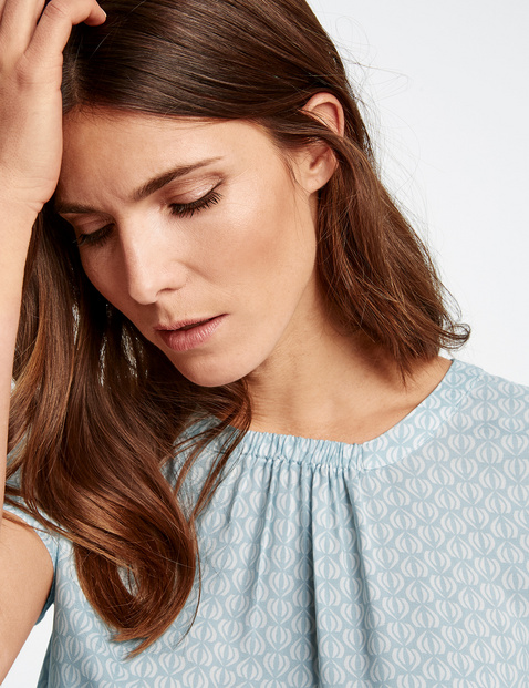 Fein gemusterte 1/2 Arm Bluse