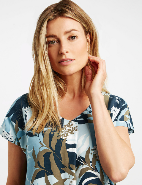 1/2 Arm Bluse mit floralem Muster