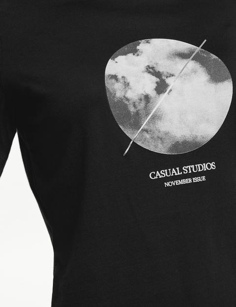 3/4 Arm Shirt mit Frontdruck organic cotton