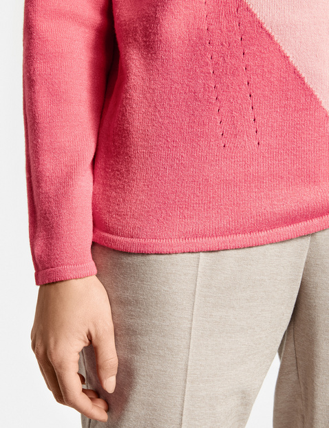 Pullover mit Colourpatch