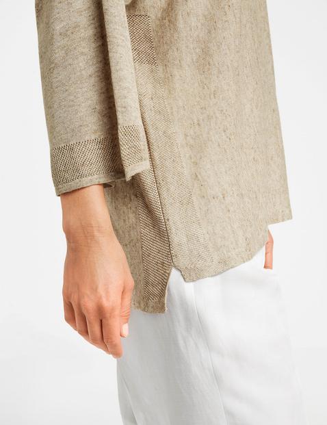 3/4 Arm Pullover mit Leinen