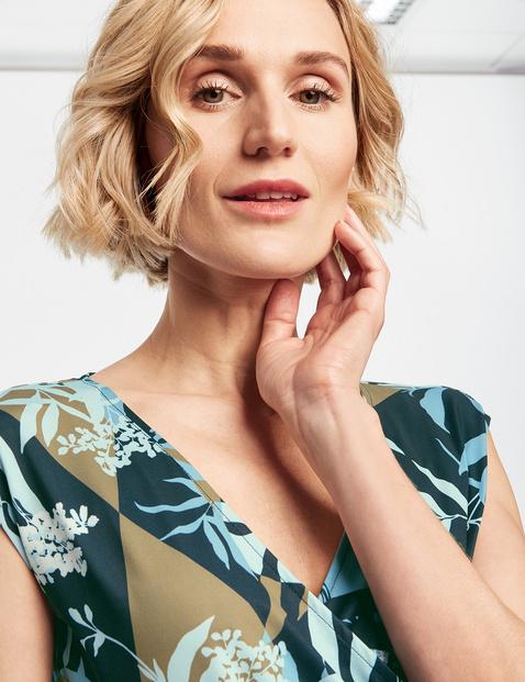 Kleid mit floralem Patchprint