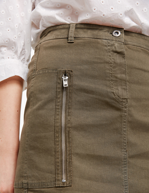Organic cotton cargo skirt