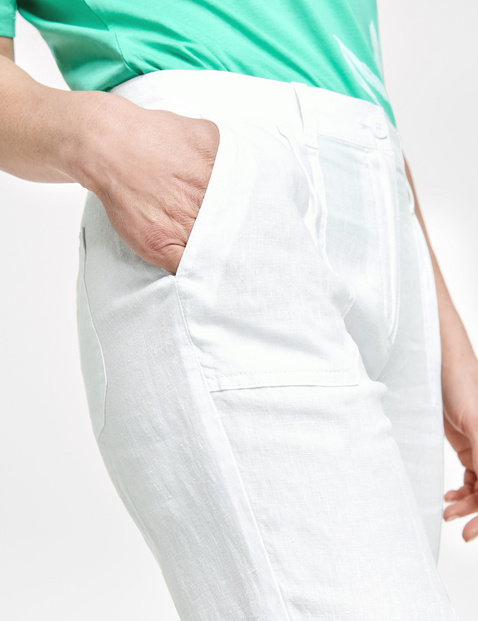 7/8-length linen trousers, Citystyle