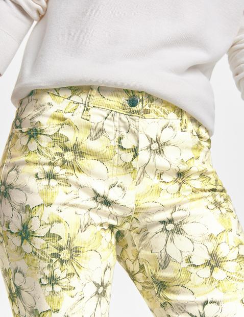 7/8 Jeans mit Blumenmuster Regular Fit