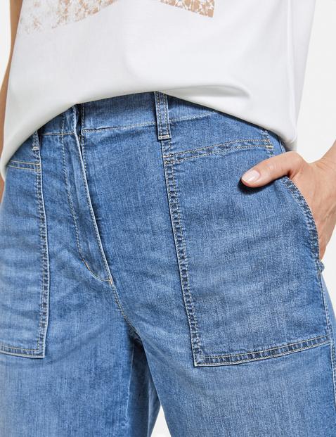 Jeans with a turn-up hem, Dry Indigo