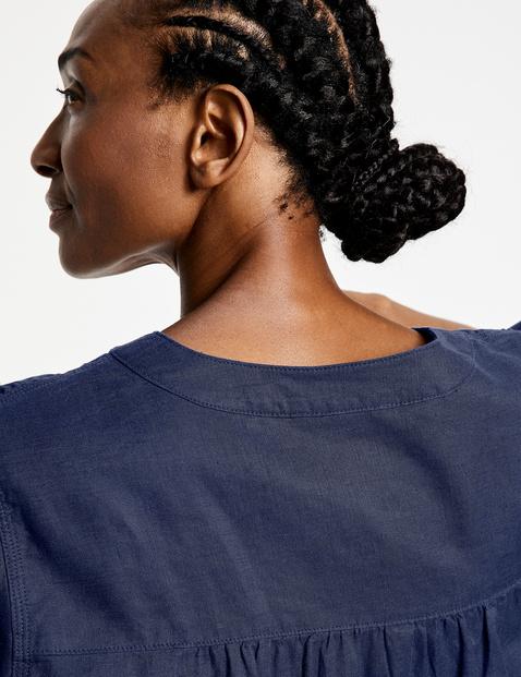 Linnen blouse met 3/4-mouwen