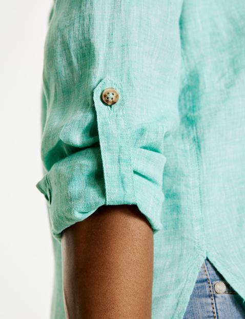 Lange blouse van linnen