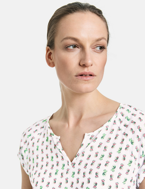 Patterned EcoVero blouse top