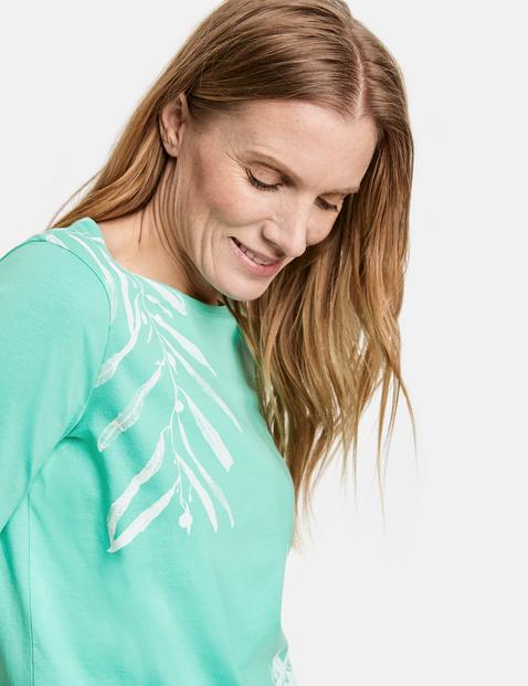 Shirt met print, van GOTS-gecertificeerd katoen