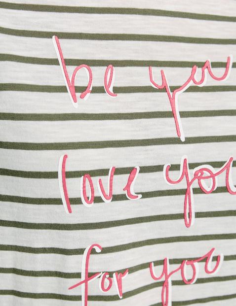 3/4 Arm Shirt mit Mottoschriftzug