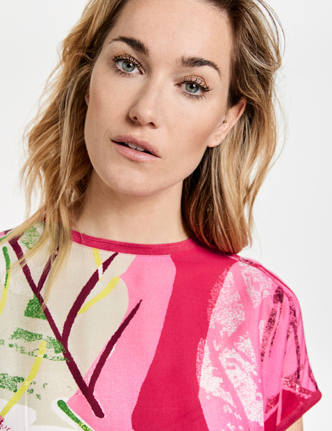 Shirt met abstracte print