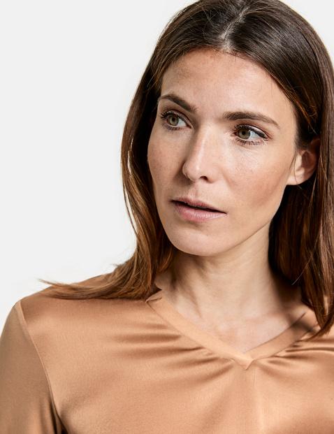 Shirt mit V-Ausschnitt EcoVero