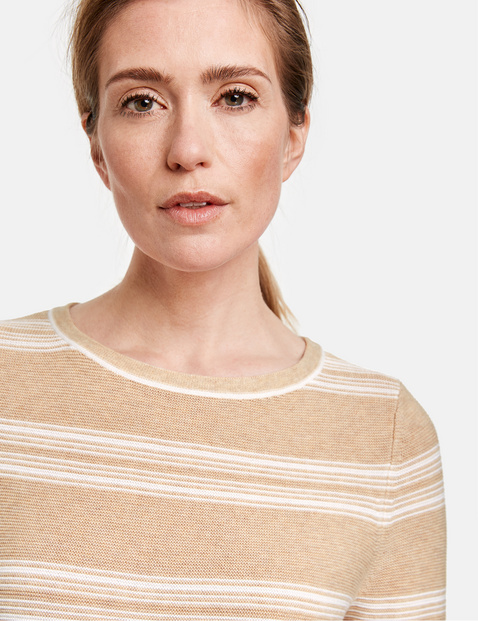3/4-sleeve jumper in organic cotton