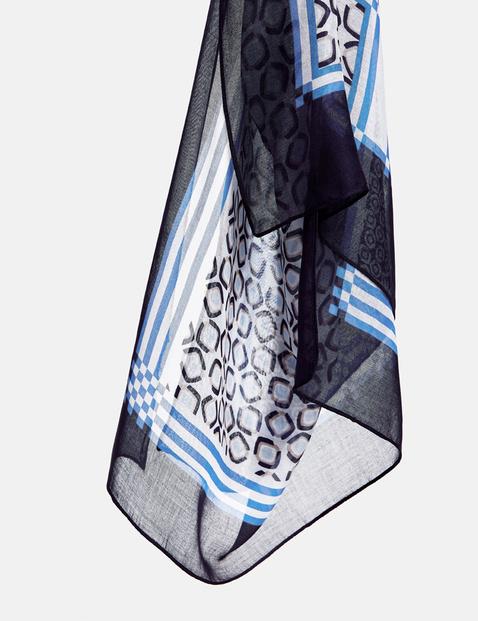 Sjaal met gepatcht dessin