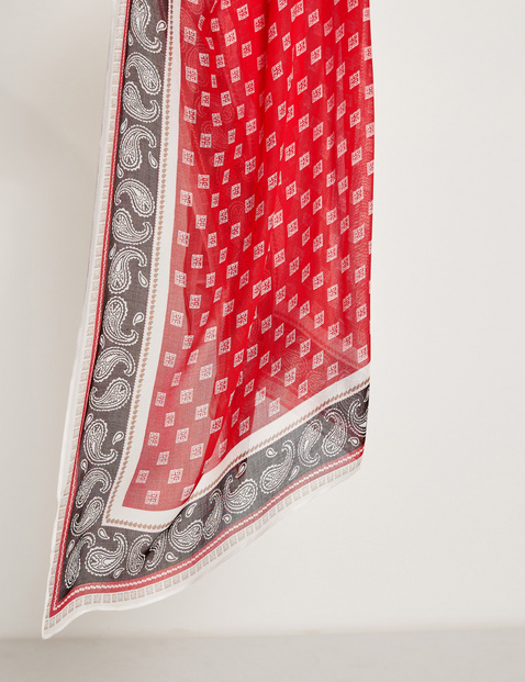 Scarf with a paisley pattern