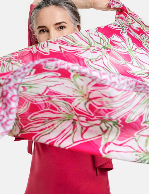 Sjaal met kleurrijk motief