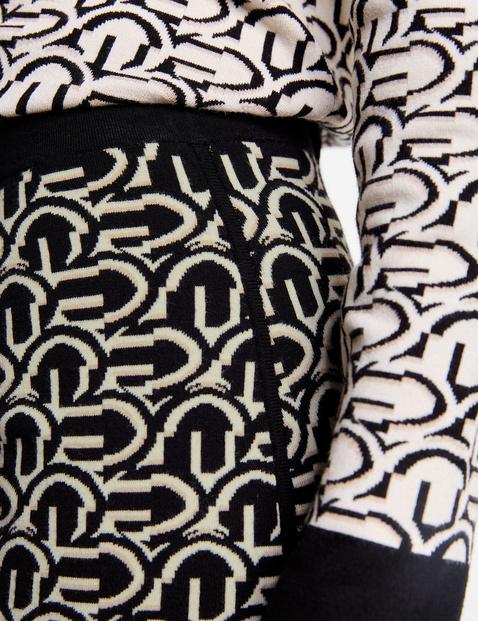 Gebreide rok met grafisch motief
