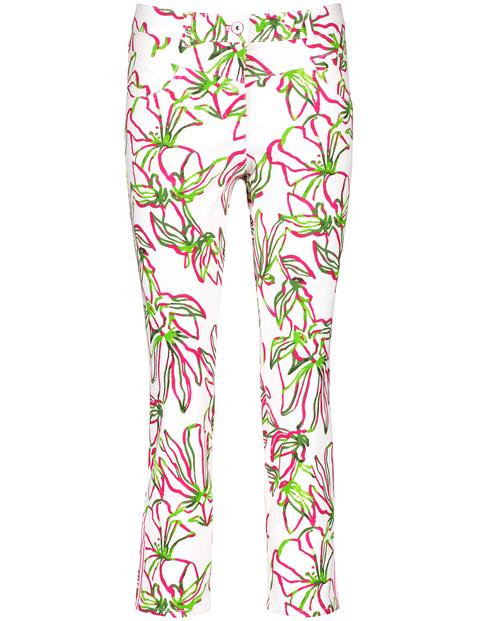 Floral bedruckte Jeans