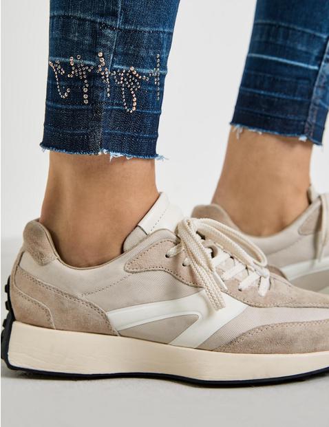Jeans mit Used Saum Best4me Organic Cotton