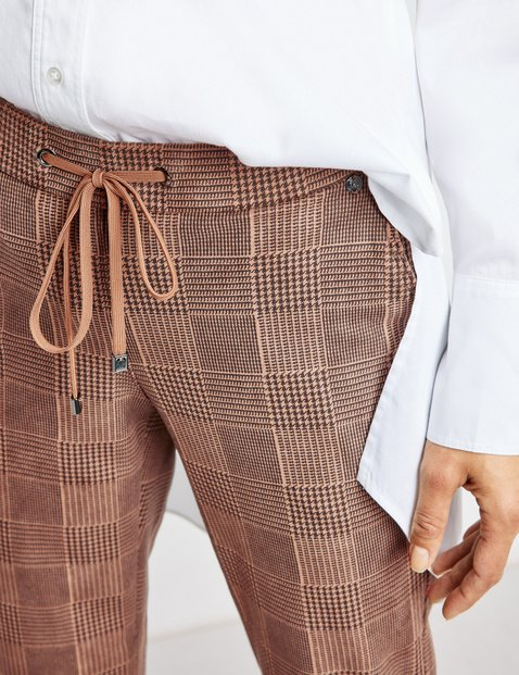 Checked tracksuit-style trousers