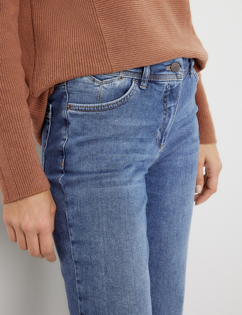 7/8-length straight fit jeans
