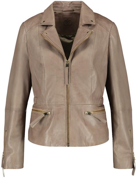 Leather biker blazer