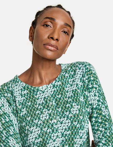 Fine knit organic cotton jacket