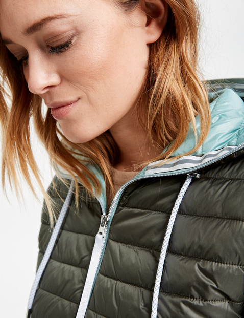 Quilted jacket with contrasting lining
