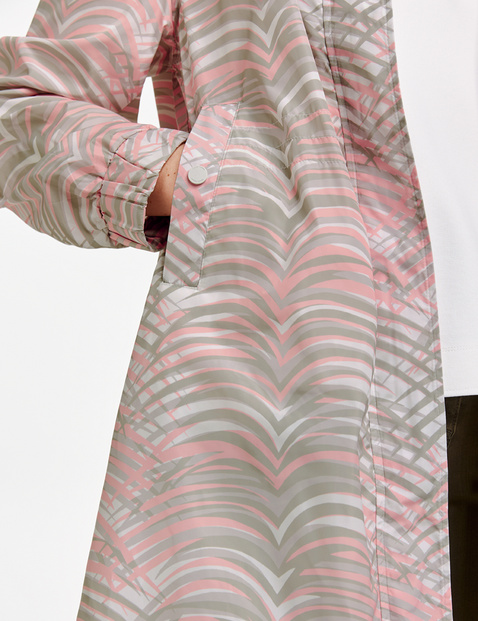 Coat with an all-over pattern