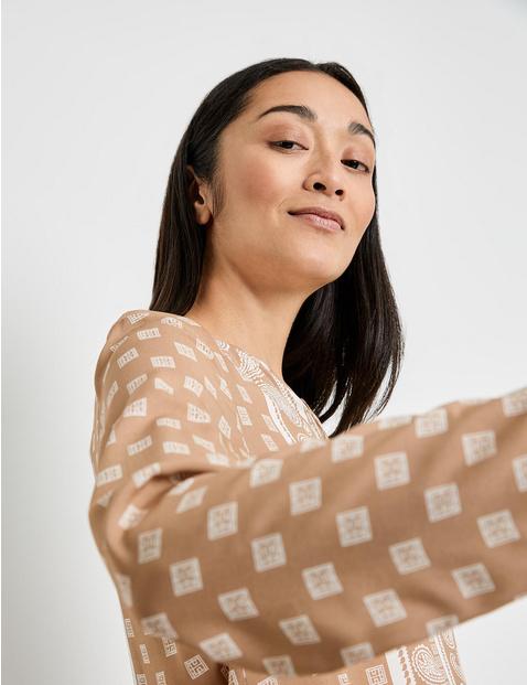 Retro-style blouse, EcoVero