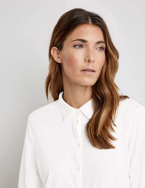 Sporty polo blouse