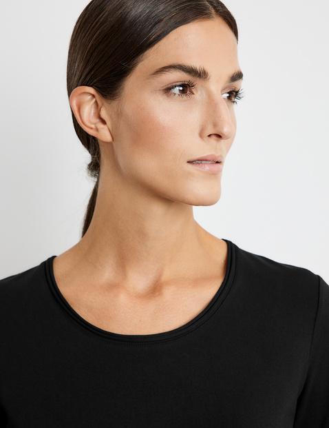 Jersey shirt met 3/4-mouwen