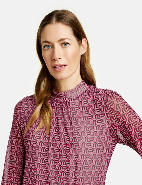 Mesh blouse top