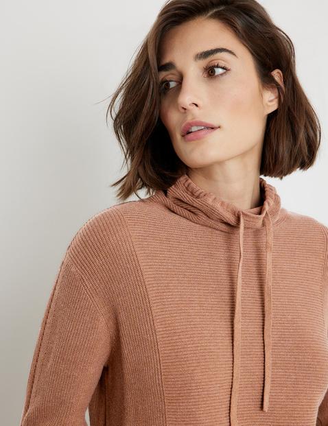 Textured jumper, GOTS