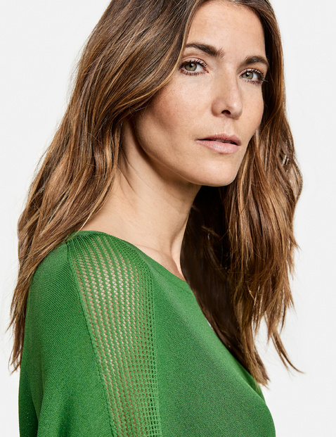 Oversized jumper with 1/2-length sleeves